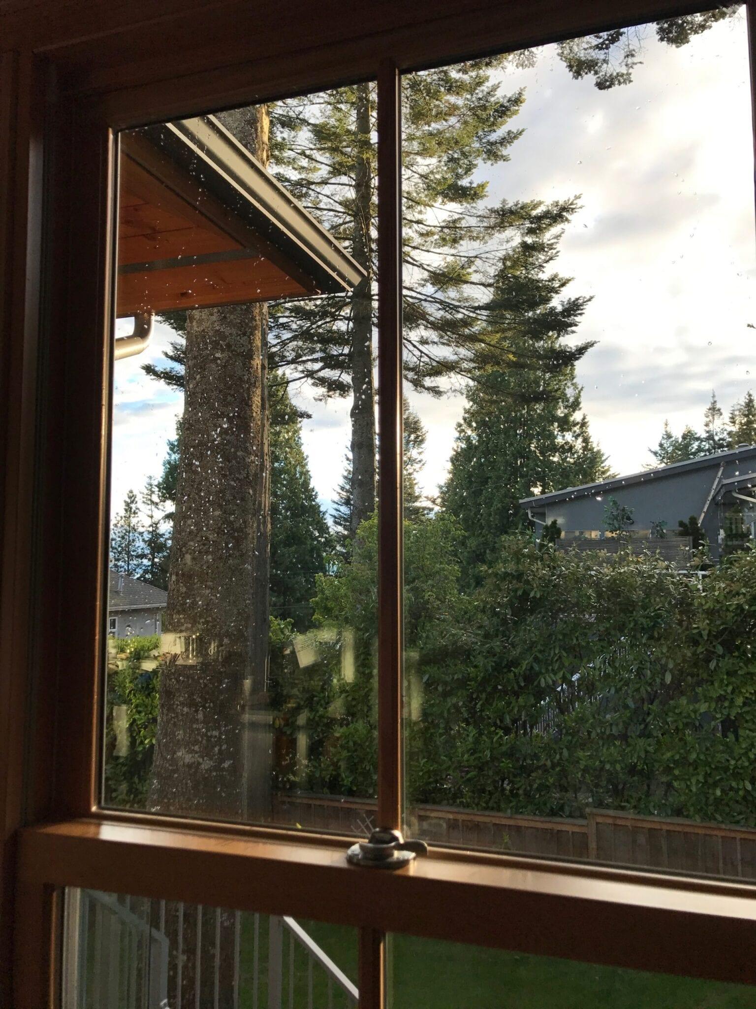 re cleaned window
